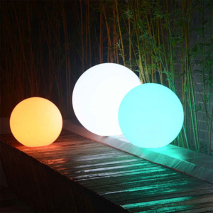 Luce a sfera luminosa led multicolor