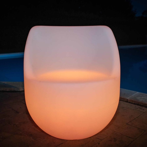 Poltrona Luminosa Led arancione